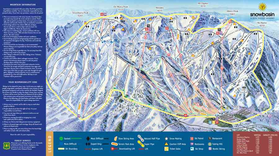 Ski Utah Salt Lake City Ski and Mountain Lodging Vacations – Salt Lake City Tourist Map